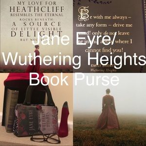 Custom made Jane Eyre/Wuthering Heights Book Purse